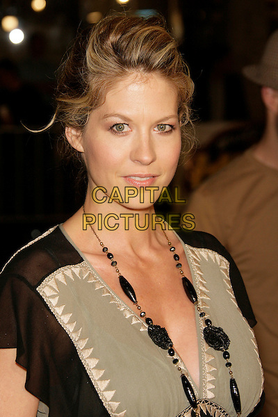 "JENNA ELFMAN.At the ""Shooter"" Los Angeles Premiere held at Mann Village Theatre, Westwood, California, USA, 08 March 2007..portrait headshot green beige and black dress.CAP/ADM/ZL.©Zach Lipp/AdMedia/Capital Pictures."