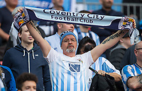 Coventry City supporters ahead of the The Checkatrade Trophy / EFL Trophy FINAL match between Oxford United and Coventry City at Wembley Stadium, London, England on 2 April 2017. Photo by Andy Rowland.