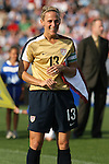 14 July 2007: United States' Kristine Lilly. The United States Women's National Team defeated their counterparts from Norway 1-0 at Rentschler Stadium in East Hartford, Connecticut in a women's international friendly soccer game.