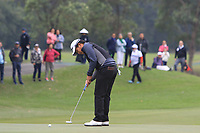 Poor Saksansin (THA) on the 3rd green during Round 3 of the UBS Hong Kong Open, at Hong Kong golf club, Fanling, Hong Kong. 25/11/2017<br /> Picture: Golffile | Thos Caffrey<br /> <br /> <br /> All photo usage must carry mandatory copyright credit     (&copy; Golffile | Thos Caffrey)