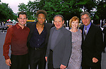The cast of  C.S.I. - George Eads, Gary Dourdan, Paul Guilfoyle II, Marg Helgenberger & William Peterson  at the CBS Network Upfront 2001.Tavern On The Green, New York City..May 16, 2001..