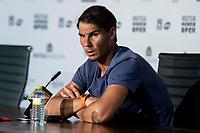 Press conference of Spanish Rafa Nadal during Mutua Madrid Open 2018 at Caja Magica in Madrid, Spain. May 11, 2018. (ALTERPHOTOS/Borja B.Hojas) /NORTEPHOTOMEXICO