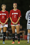 04 September 2015: NC State's Dayna Tomayko (2). The North Carolina State University Wolfpack hosted the Oregon University Ducks at Dail Soccer Field in Raleigh, NC in a 2015 NCAA Division I Women's Soccer game. NC State won the game 2-0.