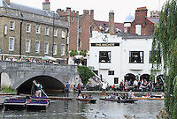 The Anchor pub overlooking the Rivar Cam.Cambridge, U.K - A variety of scenes at the historic university city of Cambridge, England -  September 2nd 2012..Photo by Keith Mayhew