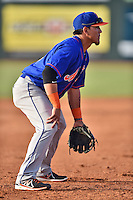 Kingsport Mets third baseman Luis Ortega (24) during a game against the  Johnson City Cardinals on June 25, 2015 in Johnson City, Tennessee. The Mets defeated the Cardinals 10-8 (Tony Farlow/Four Seam Images)