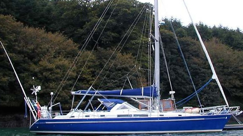 Bill Forde's Beneteau 44cc Cajucito at East Ferry in Cork Harbour