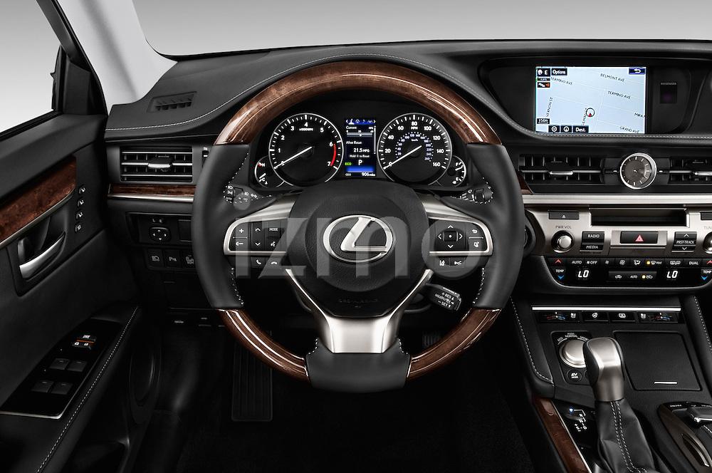 Car pictures of steering wheel view of a 2017 Lexus ES 350 4 Door Sedan 2WD Steering Wheel