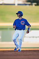 AZL Cubs 1 Zack Short (3) holds at second base for a double during a rehab assignment in an Arizona League game against the AZL Angels on June 24, 2019 at Sloan Park in Mesa, Arizona. AZL Cubs 1 defeated the AZL Angels 12-0. (Zachary Lucy / Four Seam Images)
