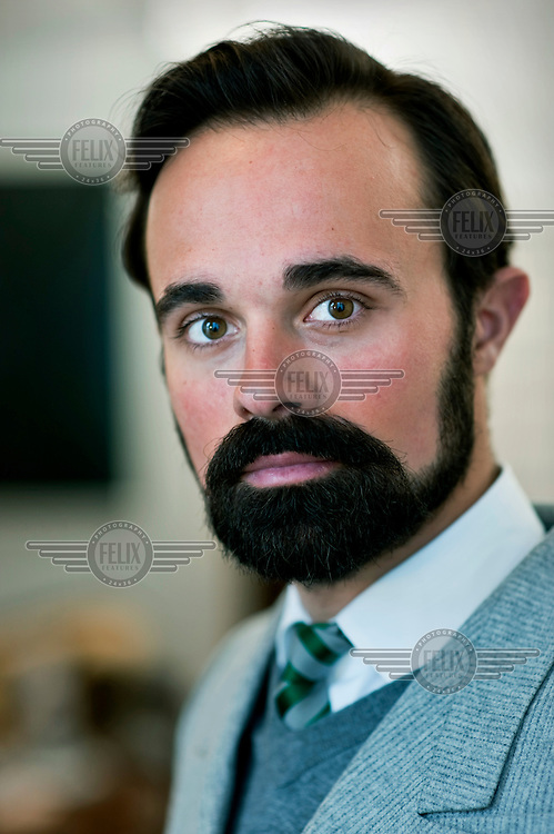Evgeny Lebedev, senior executive director of London's Evening Standard newspaper. His father, Alexander, is the owner of the newspaper. Photographed in London.