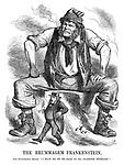 "The Brummagem Frankenstein. John Frankenstein Bright. ""I have no fe—fe—fear of ma—manhood suffrage!"""