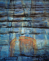 The Rainbow Snake Pictograph at Ubirr, Kakadu National Park, Australia  Ancient Aboriginal rock art