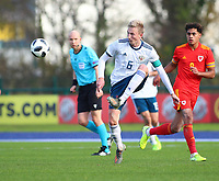 16th November 2019; Leckwith Stadium, Cardiff, Glamorgan, Wales; European Championship Under 19 2020 Qualifiers, Russia under 19s versus Wales under 19s; Ruslan Litvinov of Russia Under 19 clears the ball - Editorial Use