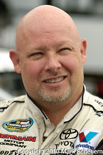 June 11 2010: Todd Bodine before practice for the VFW 200 NASCAR Camping World Truck Series race at Michigan International Speedway, Brooklyn, Michigan