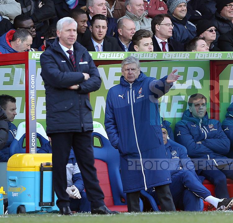 Arsenal's Arsene Wenger looks on <br /> <br /> Barclays Premier League - Crystal Palace  vs Arsenal  - Selhurst Park - England - 21st February 2015 - Picture David Klein/Sportimage