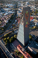 Torre Insignia, Mario Pani Architect, Tlatelolco, Mario Pani. Aerial photos of Mexico City, Mexico