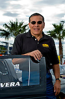 Oct. 31, 2008; Las Vegas, NV, USA: NHRA pro stock driver Gordie Rivera during qualifying for the Las Vegas Nationals at The Strip in Las Vegas. Mandatory Credit: Mark J. Rebilas-