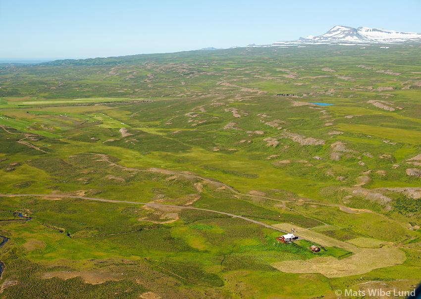 Ásgeirsstaðir séð til norðurs, Fljótsdalshérað áður Eiðahreppur /  Asgeirsstadir viewing north, Fljotsdalsherad former Eidahreppur.