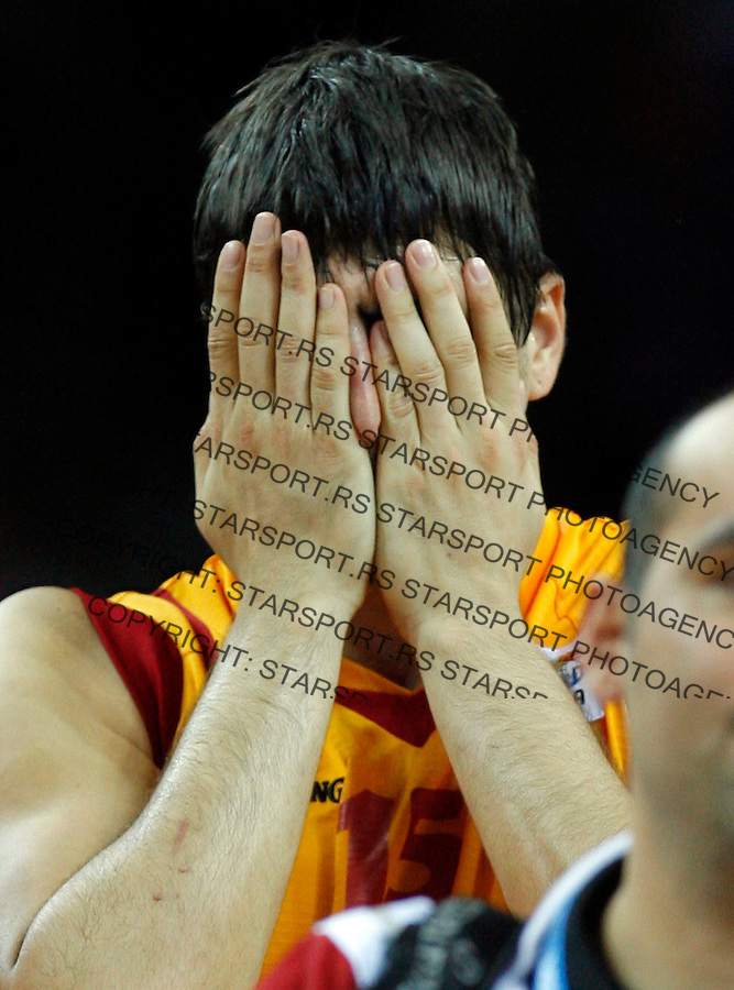 MacedonianPredrag Samardziski reacts during  basketball game for third place between Macedonia (FYROM) and Russia in Kaunas, Lithuania, Eurobasket 2011, Friday, September 16, 2011. (photo: Pedja Milosavljevic)