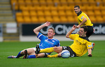 St Johnstone v Livingston...24.08.11   Scottish Communities League Cup Round 2.Jamie Adams and Liam Fox.Picture by Graeme Hart..Copyright Perthshire Picture Agency.Tel: 01738 623350  Mobile: 07990 594431