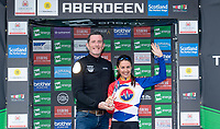 Picture by Allan McKenzie/SWpix.com - 17/05/2018 - Cycling - OVO Energy Tour Series Womens Race - Round 2:Aberdeen - Storey Racing's Rebecca Durrell takes the Brother fastest lap award at Aberdeen.