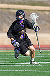 San Diego, CA 05/25/13 - Dylan Harris (Carlsbad #4) in action during the 2013 Boys Lacrosse San Diego CIF DIvision 1 Championship game.  Westview defeated Carlsbad 8-3.