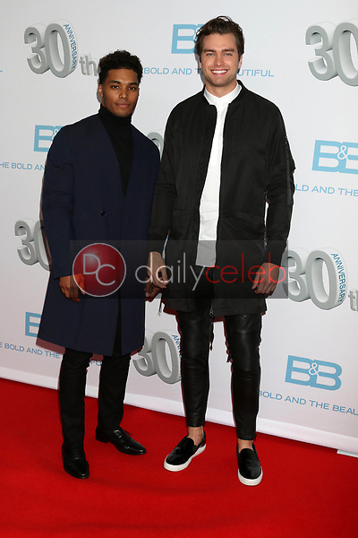 "Rome Flynn, Pierson Fode<br /> at the ""The Bold and The Beautiful"" 30th Anniversary Party, Clifton's Downtown, Los Angeles, CA 03-18-17<br /> David Edwards/DailyCeleb.com 818-249-4998"