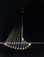 FREELY SWINGING PENDULUM<br /> Two Arc Pendulum<br /> Bob still rises to reference line.