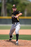 Pittsburgh Pirates pitcher Billy Roth (51) during a minor league spring training game against the Toronto Blue Jays on March 26, 2015 at Pirate City in Bradenton, Florida.  (Mike Janes/Four Seam Images)