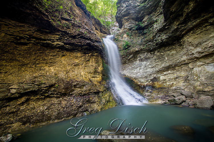 Eden Falls in lost Valley Park in the Buffalo National River area of Arkansas.