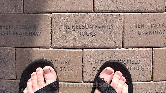 "Salt Lake City - trent feet and ""the nelson family rocks."" Sunday, May 4, 2008.; 05.04.2008."
