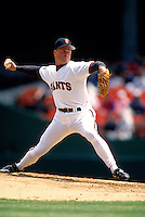 SAN FRANCISCO, CA - Bill Swift of the San Francisco Giants pitches during a game at Candlestick Park in San Francisco, California in 1994.  Photo by Brad Mangin