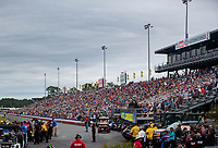 Mar 16, 2019; Gainesville, FL, USA; NHRA fans crowd the grandstands during qualifying for the Gatornationals at Gainesville Raceway. Mandatory Credit: Mark J. Rebilas-USA TODAY Sports