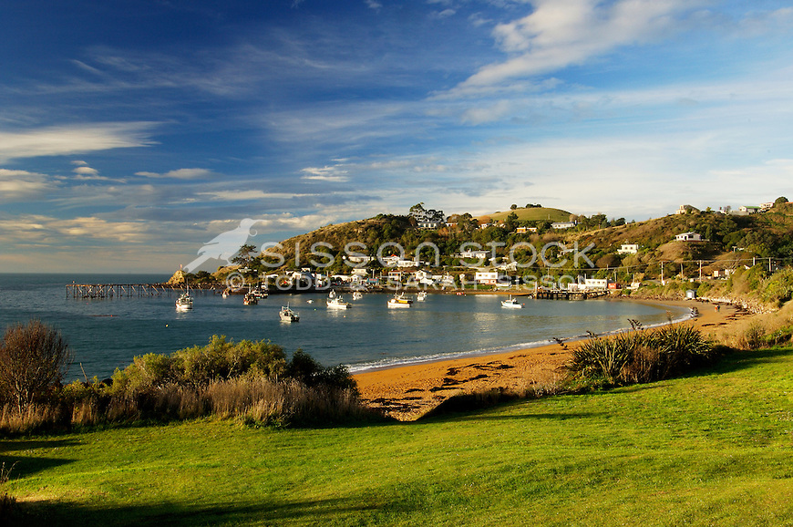 Moeraki, beach and bay, South Island, New Zealand - stock photo, canvas, fine art print