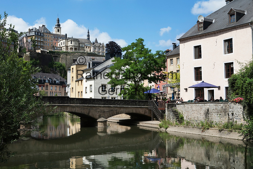 Grand Duchy of Luxembourg, Luxembourg: View from Grund up to the Old Town