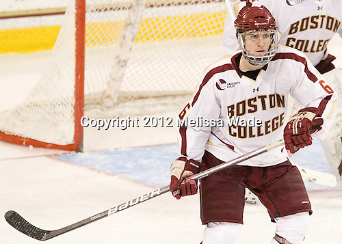 Patrick Wey (BC - 6) - The Boston College Eagles defeated the Providence College Friars 7-0 on Saturday, February 25, 2012, at Kelley Rink at Conte Forum in Chestnut Hill, Massachusetts.