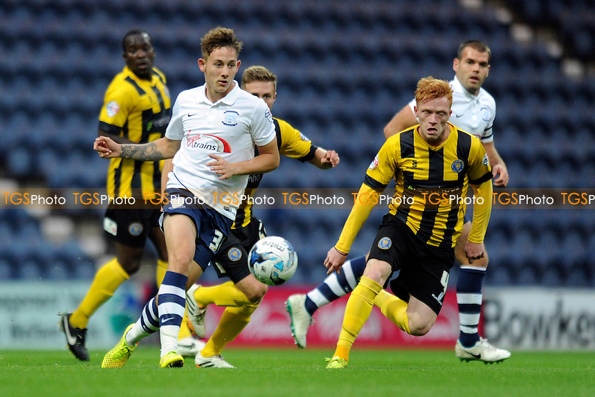 Josh Brownhill of Preston North End controls the ball - Preston North End vs Shrewsbury Town - Johnstones Paint Trophy Northern Section First Round Football at Deepdal, Preston, Lancashire - 02/09/14 - MANDATORY CREDIT: Greig Bertram/TGSPHOTO - Self billing applies where appropriate - contact@tgsphoto.co.uk - NO UNPAID USE