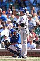 New York Mets catcher Paul Lo Duca #16 during a game against the Chicago Cubs at Wrigley Field on July 15, 2006 in Chicago, Illinois.  (Mike Janes/Four Seam Images)