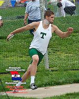 Timberland senior Josh McDonald captured the Class 4 Sectional 2 discus title with a best toss of 186-8. McDonald has gone over the 190 foot mark several times this year and could become just the third Missouri High School boy to throw over the 200' mark.