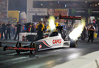 Sep 27, 2019; Madison, IL, USA; NHRA top fuel driver Steve Torrence during qualifying for the Midwest Nationals at World Wide Technology Raceway. Mandatory Credit: Mark J. Rebilas-USA TODAY Sports