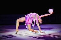 """SILVIYA MITEVA of Bulgaria performs gala at 2011 World Cup Kiev, """"Deriugina Cup"""" in Kiev, Ukraine on May 8, 2011."""