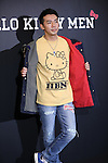 """October 21, 2016, Tokyo, Japan - Japanese comedian Yuji Ayabe wears Hello Kitty designed clothes including a teeshirt, jacket, jeans, socks and accessories at the Seibu department store in Tokyo on Friday, October 21, 2016. Japanese character giant Sanrio unveiled the new lineup for the """"Hello Kitty Men"""" brand with nine creators.   (Photo by Yoshio Tsunoda/AFLO) LWX -ytd-"""