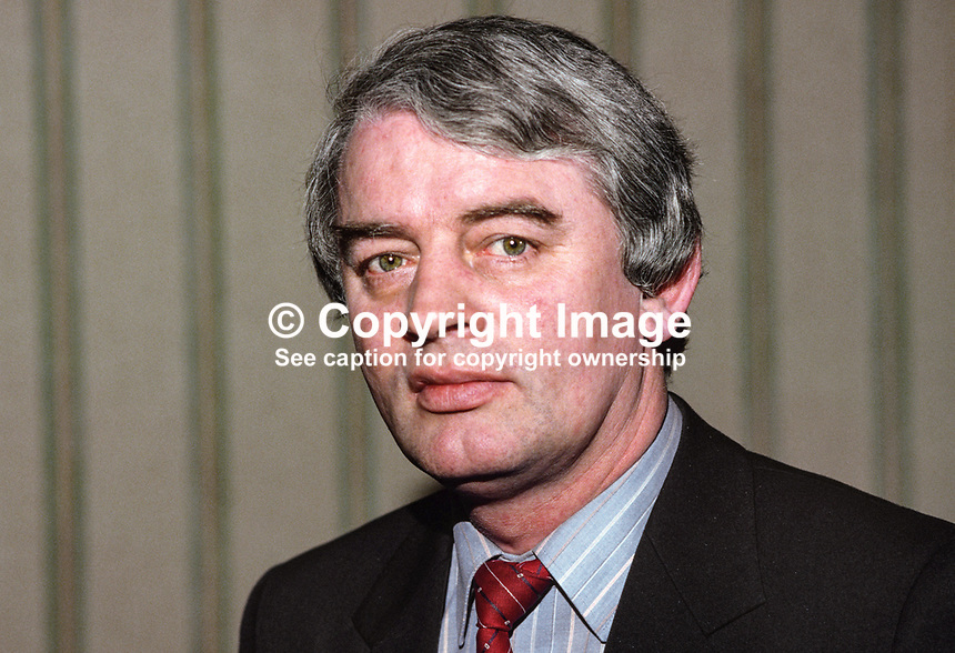 Austin Currie, assemblyman, Fermanagh &amp; South Tyrone, SDLP, 19850011.<br /> <br /> Copyright Image from Victor Patterson,<br /> 54 Dorchester Park, Belfast, UK, BT9 6RJ<br /> <br /> t1: +44 28 90661296<br /> t2: +44 28 90022446<br /> m: +44 7802 353836<br /> <br /> e1: victorpatterson@me.com<br /> e2: victorpatterson@gmail.com<br /> <br /> For my Terms and Conditions of Use go to<br /> www.victorpatterson.com