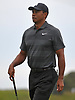 Tiger Woods walks to the 2nd Hole during a practice round prior to the U.S. Open Championship at Shinnecock Hills Golf Club in Southampton on Sunday, June 10, 2018.