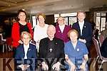 At the celebration of Cuan Mhuire founded by Sr Consilio in conjunction with Ray Browne Bishop of Kerry in the Rose Hotel,Tralee on Sunday Front l-r: Sr Agnes,Bishop Ray Browne and Sr Consilio. Back l-r: Anne O'Shea Daly,Kathleen Sheehy,Sr de Sales and Sr Baiste.