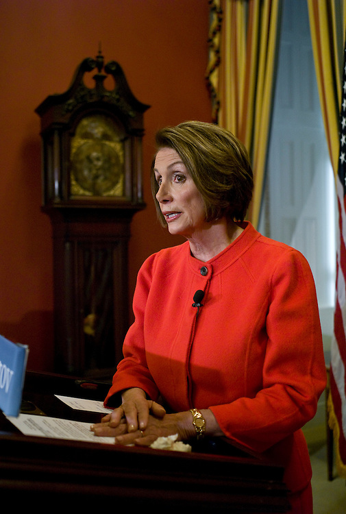 WASHINGTON, DC - Dec. 10: House Speaker Nancy Pelosi, D-Calif., during her weekly news conference. (Photo by Scott J. Ferrell/Congressional Quarterly)