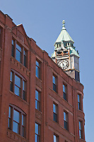 The Savings Bank professional building is a landmark of downtown Marquette Michigan.