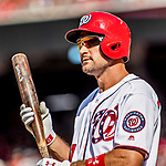 8 July 2017: Washington Nationals first baseman Ryan Zimmerman in action against the Atlanta Braves at Nationals Park in Washington, DC. The Braves shut out the Nationals 13-0 to take the third game of their 4-game series. Mandatory Credit: Ed Wolfstein Photo *** RAW (NEF) Image File Available ***