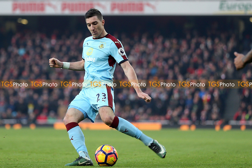 Stephen Ward of Burnley during Arsenal vs Burnley, Premier League Football at the Emirates Stadium on 22nd January 2017