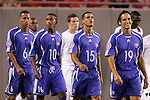 11 March 2008: Cuba players enter the pitch, pregame.  Left to right: Alianni Urgelles (CUB) (6), Yordany Alvarez (CUB) (10), Juan Carlos Martinez (CUB) (15), Leonel Duarte (CUB) (19). The United States U-23 Men's National Team tied the Cuba U-23 Men's National Team 1-1 at Raymond James Stadium in Tampa, FL in a Group A game during the 2008 CONCACAF's Men's Olympic Qualifying Tournament.