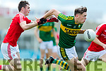 David Clifford Kerry in action against Dan Corcoran Louth in the All Ireland Minor Football Quarter Finals at O'Moore Park, Portlaoise on Saturday.